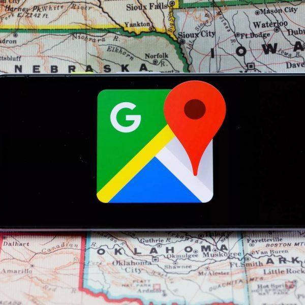 В картах Google появились функции для защиты от коронавируса (google maps logo phone 3831)