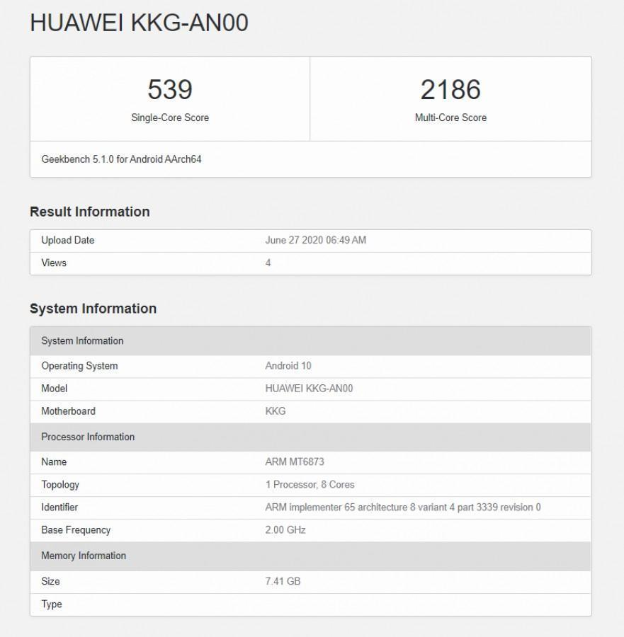 Опубликованы характеристики нового Honor X10 Max (gsmarena 001)