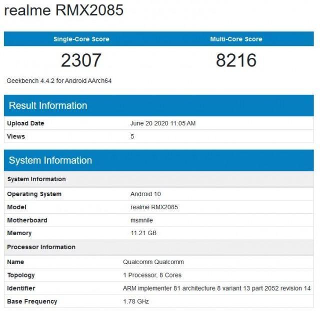 Realme X3 засветился в GeekBench с 12 Гб ОЗУ и процессором Snapdragon 765G (gsmarena 002 1)