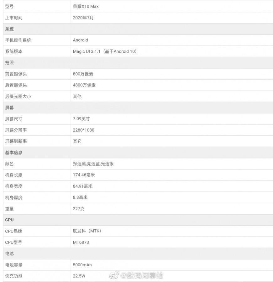 Опубликованы характеристики нового Honor X10 Max (gsmarena 002 2)