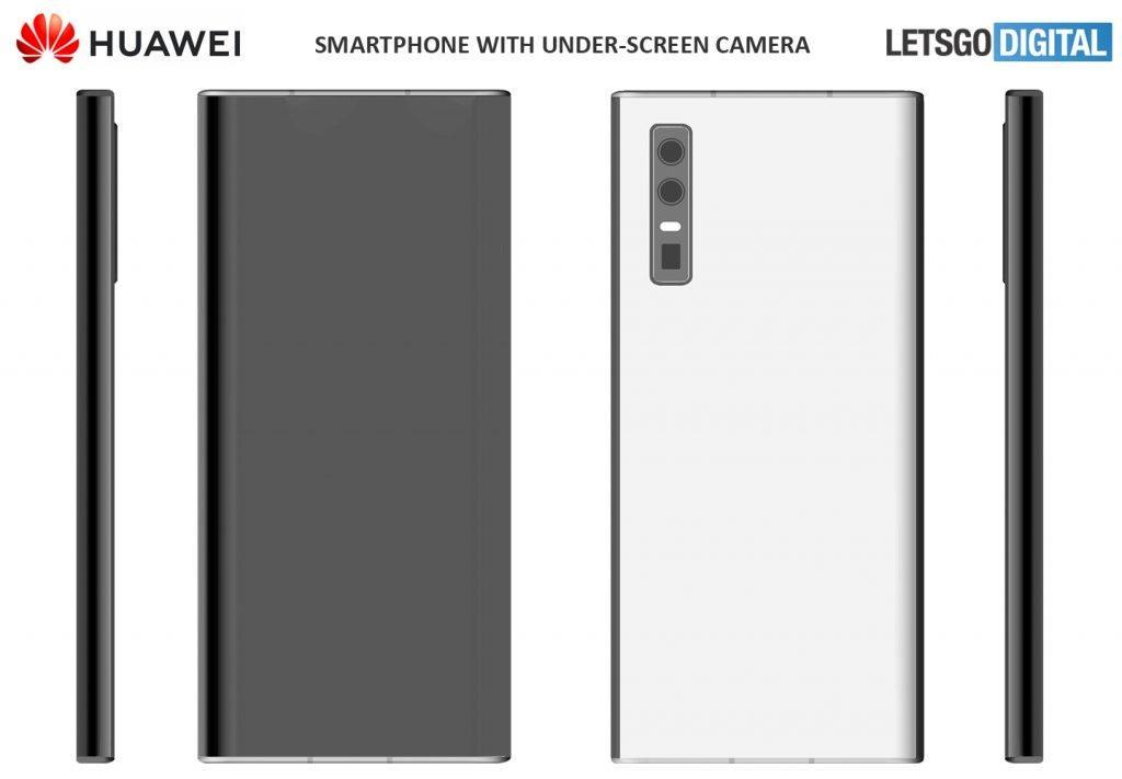 Huawei запатентовала смартфон с подэкранной селфи-камерой (huawei smartphone 2020 model 1024x711 1)