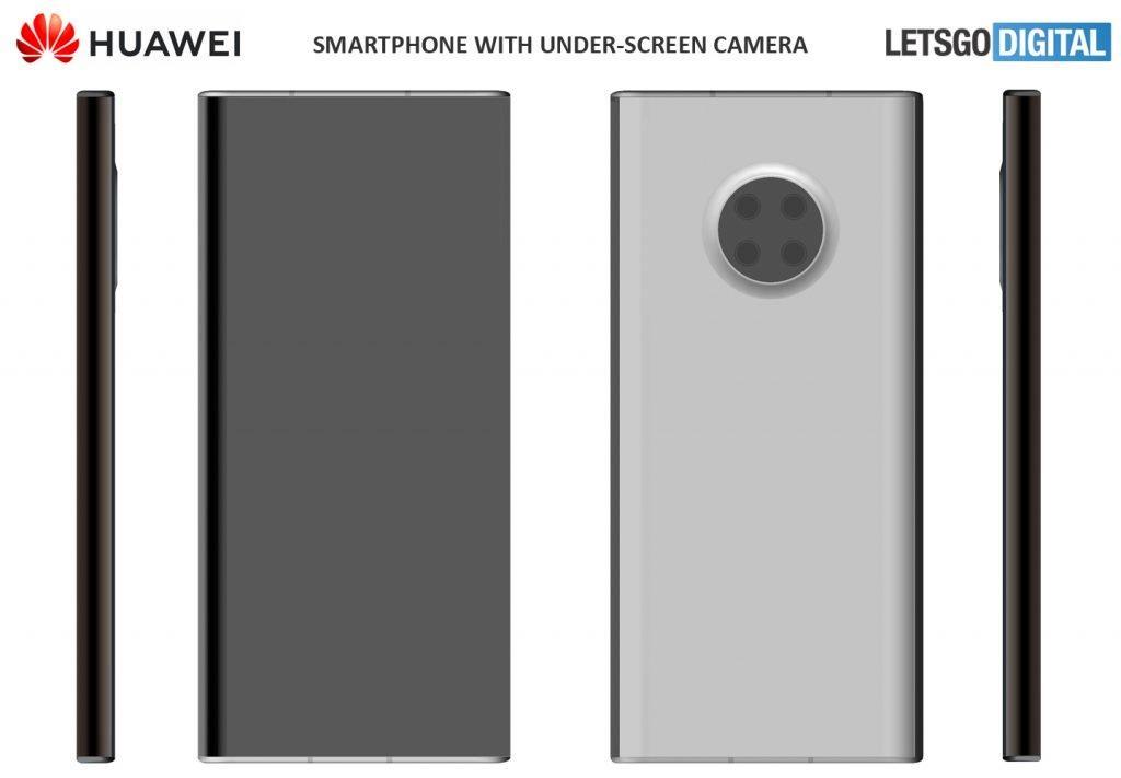 Huawei запатентовала смартфон с подэкранной селфи-камерой (huawei smartphone camera onder scherm 1024x711 1)