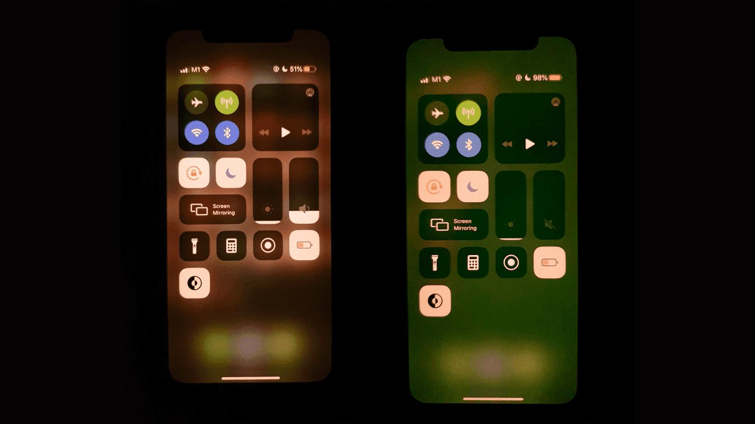 Пользователи iPhone 11 жалуются на появление зелёного оттенка на экране смартфона (iphone 11 green screen 1536x864 1)