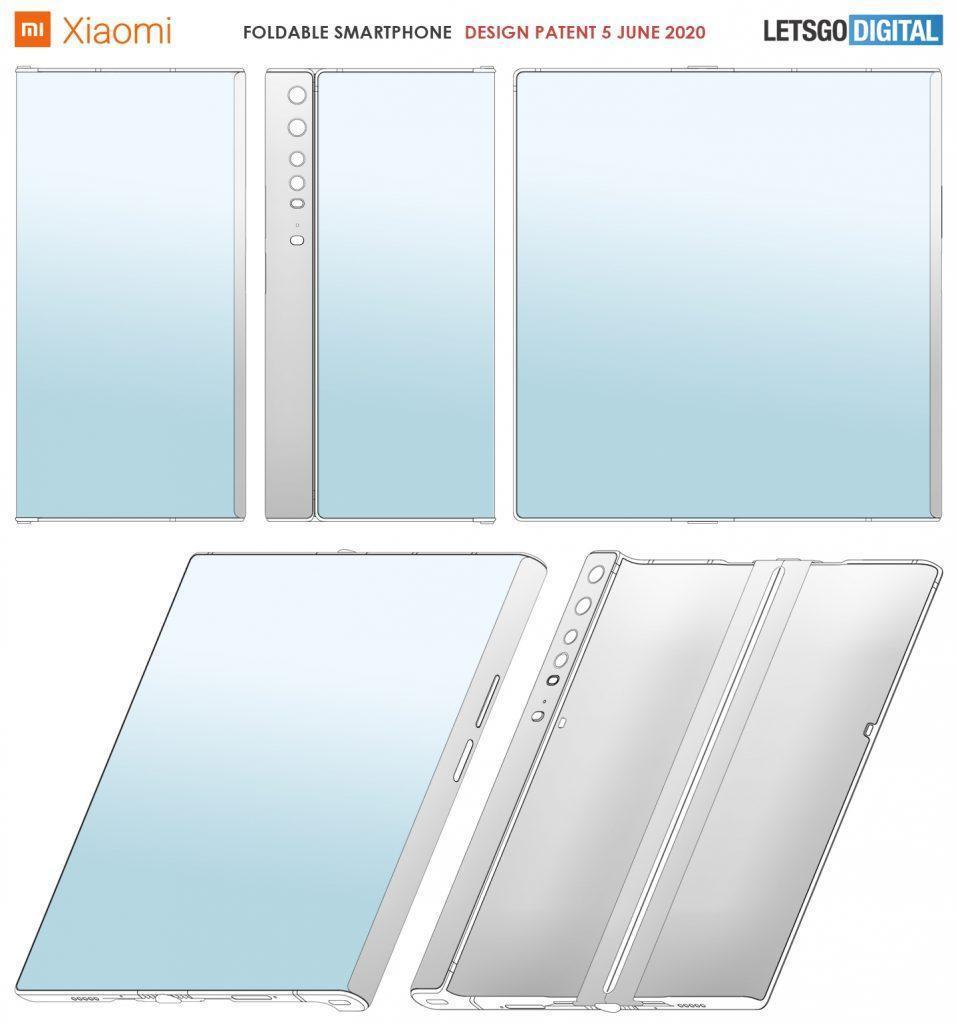 Xiaomi запатентовала новый складной смартфон (opvouwbare smartphones 958x1024 1)