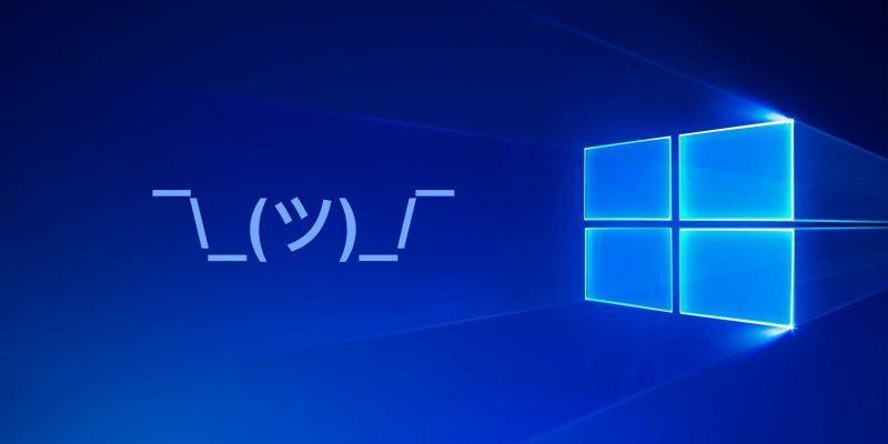 Microsoft заблокировала майское обновление Windows 10 (windows 10 kaomoji large)