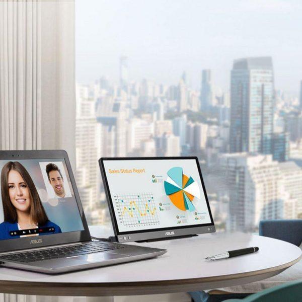 Asus представила портативный монитор весом всего 590 грамм (zenscreen mb14ac portable monitor)