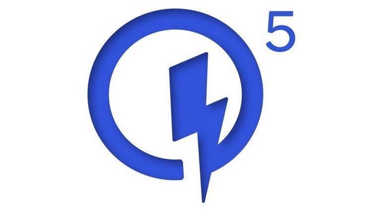 Qualcomm представила технологию быстрой зарядки Quick Charge 5 (20200726 blue quick charge 5 logo)