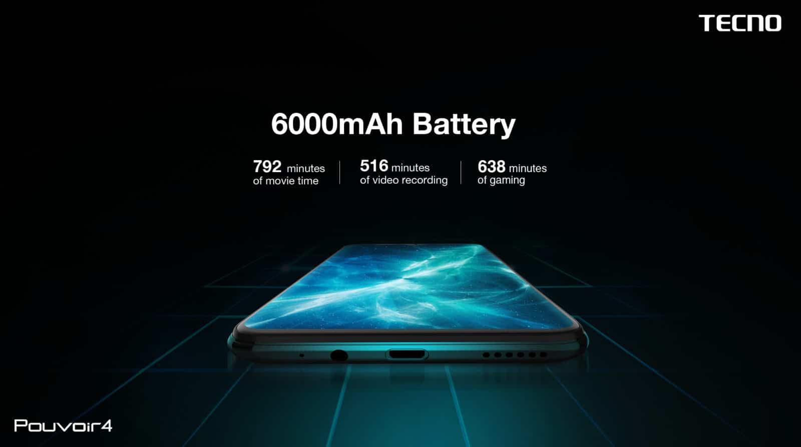 Tecno Pouvoir 4 стал первым смартфоном получивший бета-версию Android 11 (6000mah battery t)