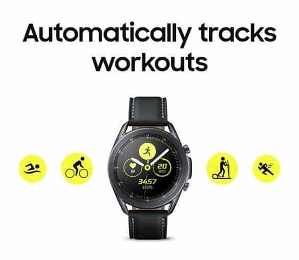 В сеть утекли рекламные материалы и изображения Samsung Galaxy Watch 3 ()