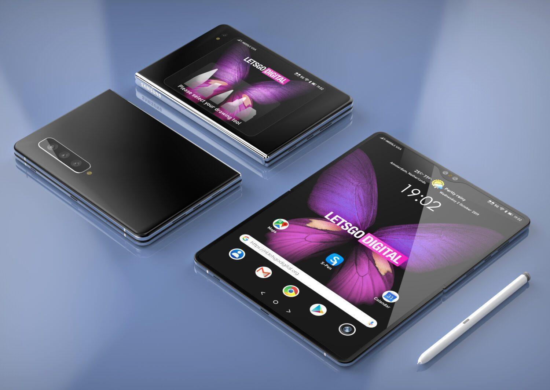 Samsung изменит название предстоящего смартфона Galaxy Fold 2 (finalnyj dizajn galaxy z fold gorizontalnyj izgib i stilus 3)