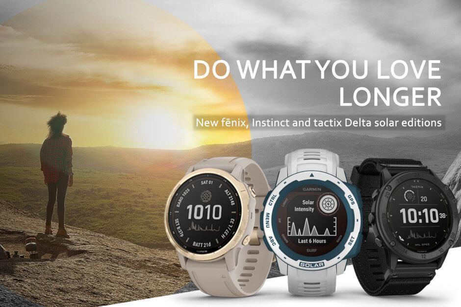 Garmin запускает новые умные часы на солнечных батареях (garmin launches new old solar powered smartwatches)