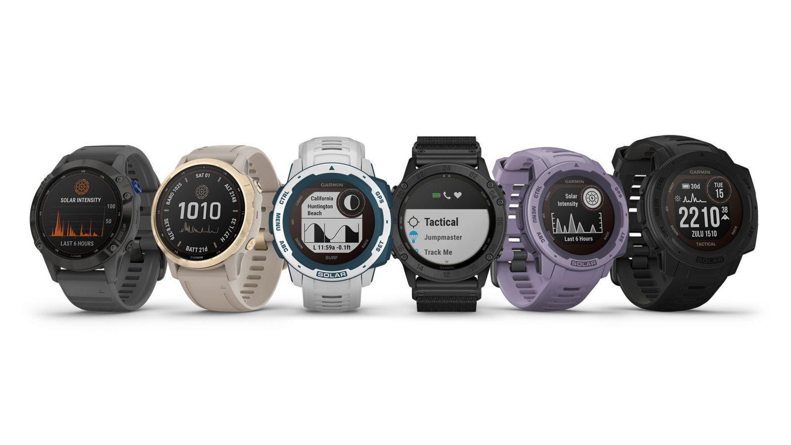 Garmin запускает новые умные часы на солнечных батареях (garmin solar smartwatches)