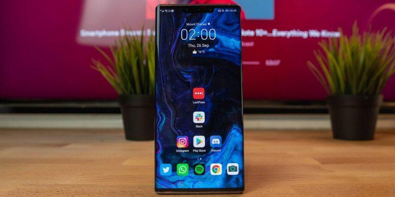 В сети появились качественные рендеры Huawei Mate 40 (huawei mate 30 pro front shot of home screen)