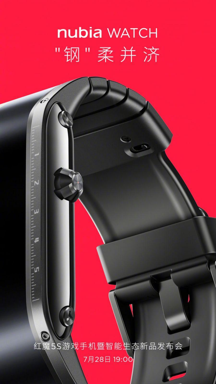 Умные часы Nubia получат OLED-дисплей и корпус из нержавеющей стали (nubia watch teaser featured 1068x1899 1)