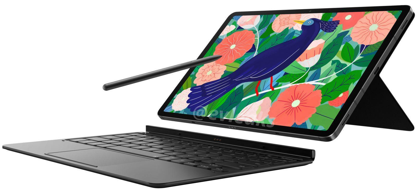 В сеть утекли изображения планшета Samsung Galaxy Tab S7 (samsung galaxy tab s7 with s pen and keyboard cover large)