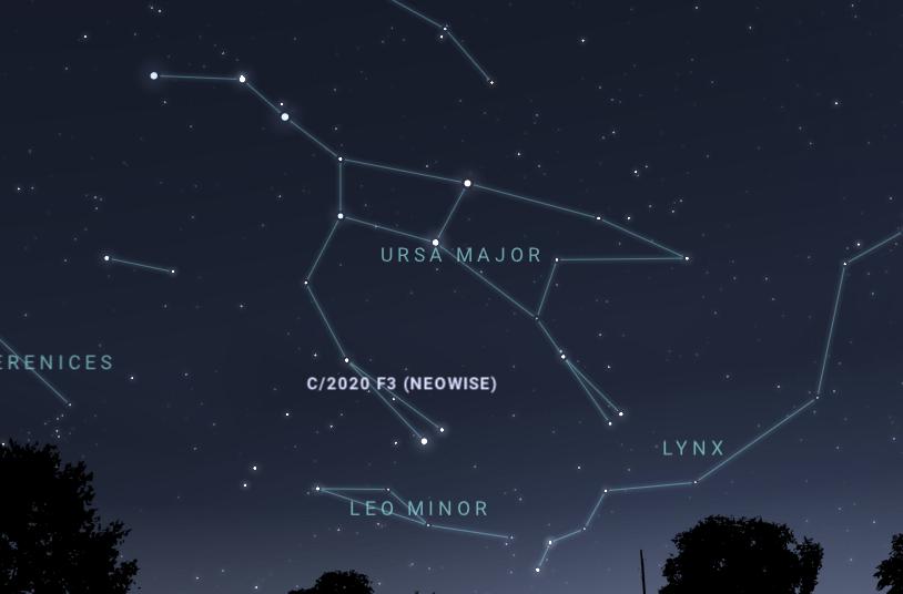 Комету NEOWISE 2020 можно будет увидеть уже сегодня вечером (snimok 2)