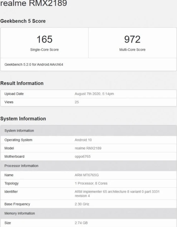 Realme C12 с 3 ГБ ОЗУ появился на GeekBench (5f2f807f870b5)