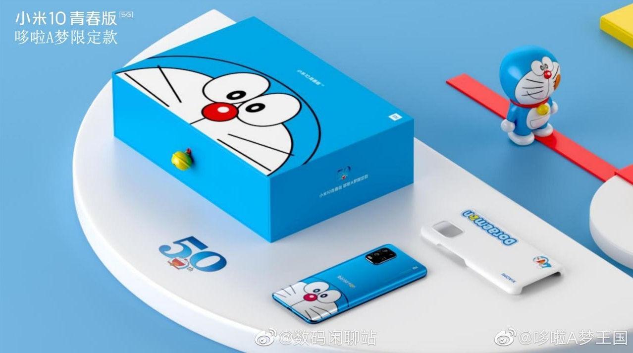 Xiaomi выпустит смартфон Mi 10 Youth Doraemon Edition в честь 50-летия робота-кота (mi 10 youth edition new 1 1)