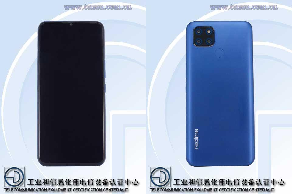Realme завтра выпустит самый дешёвый 5G-смартфон (realme rmx2200 rmx2201 tenaa)