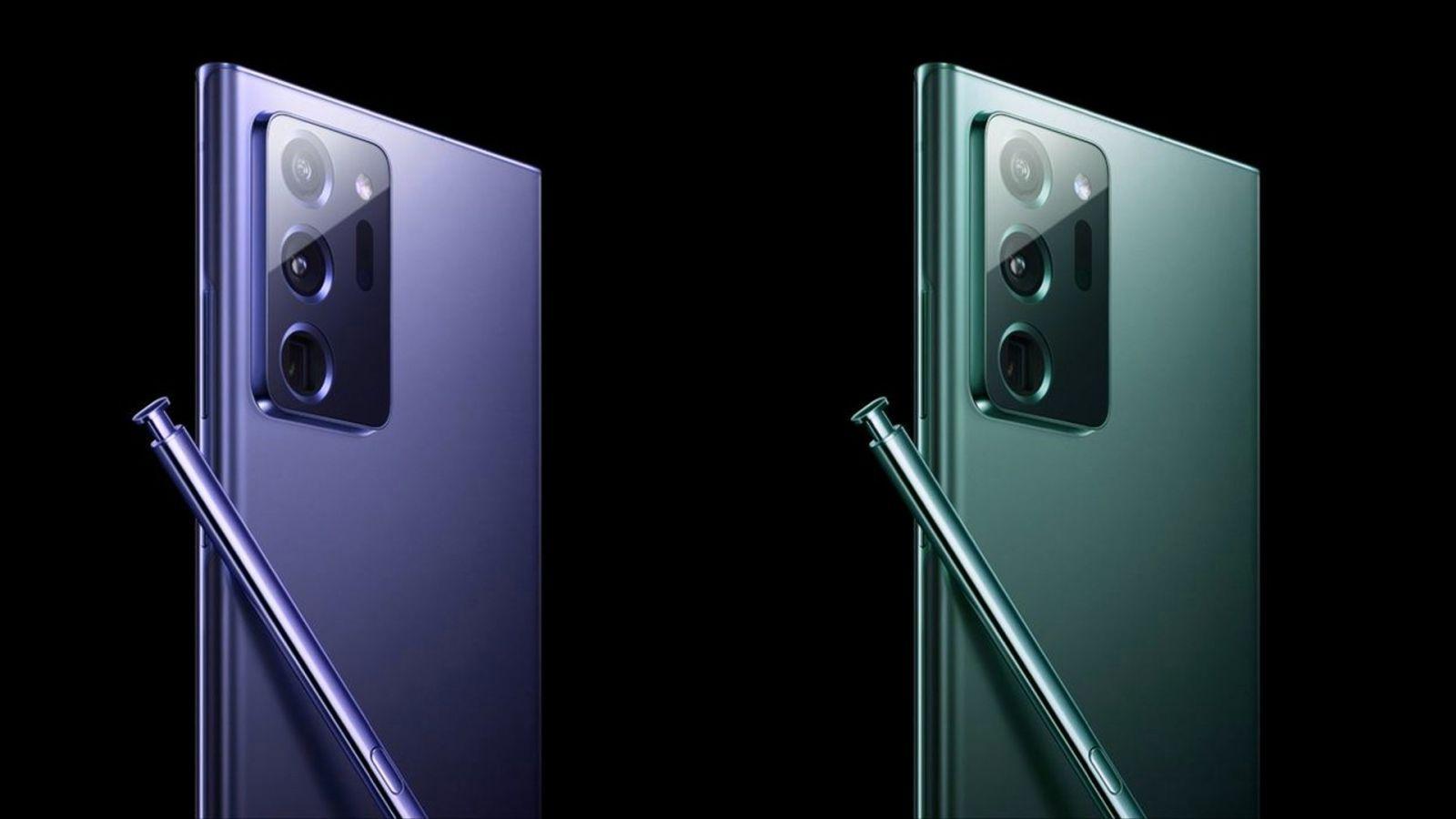Samsung Galaxy Note20 Ultra получит UWB-чипсет (samsung galaxy note 20 ultra blue mint green colors large)