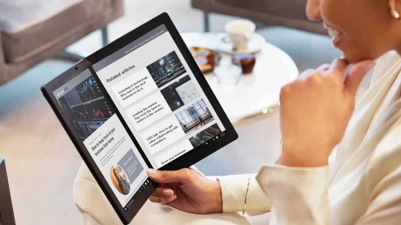 Lenovo представила первый в мире ноутбук с гибким экраном (19 TP X1 Fold 1280x720 1)