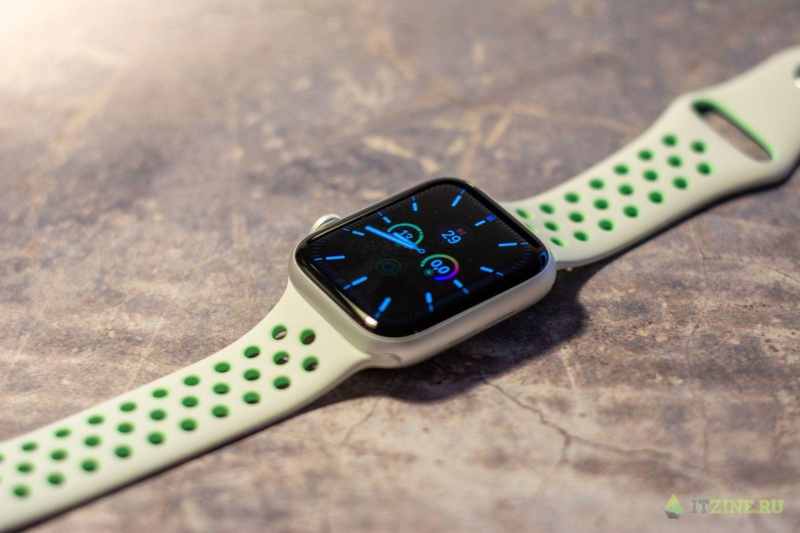 Серебристые Apple Watch series 6