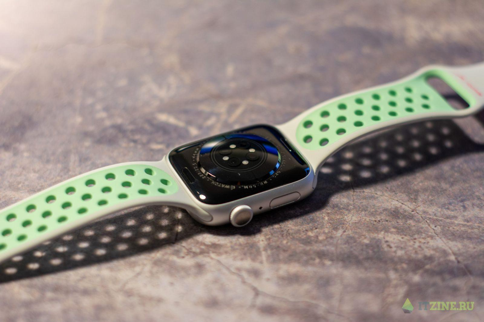 Датчик пульса и кислорода в крови в Apple Watch series 6