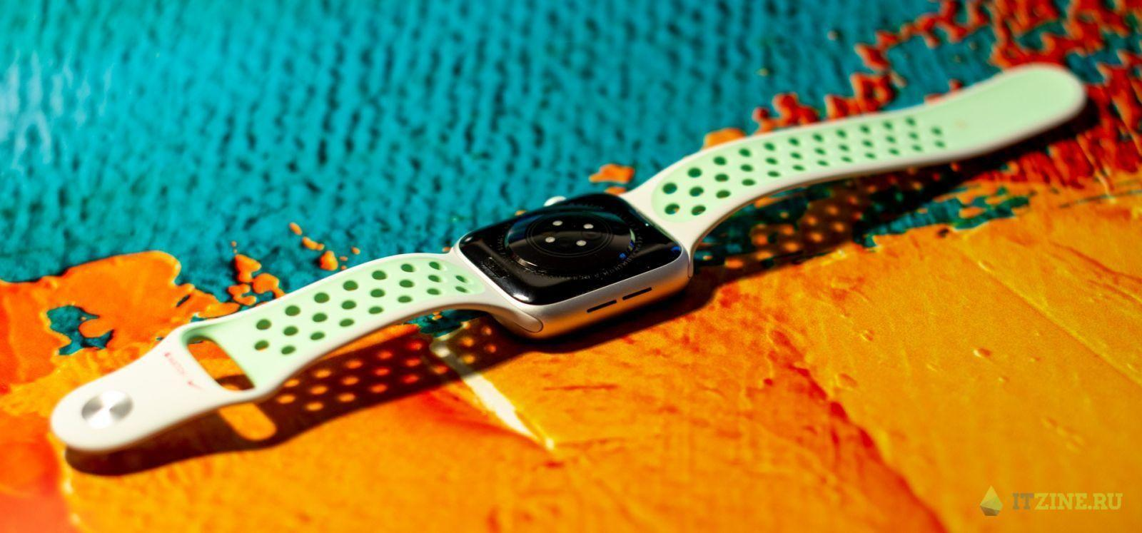 Apple Watch series 6 со спортивным ремешком Nike