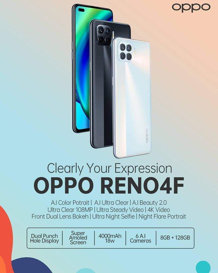 OPPO анонсировала смартфон OPPO Reno4 F. Его представят 12 октября (Reno4 F b)