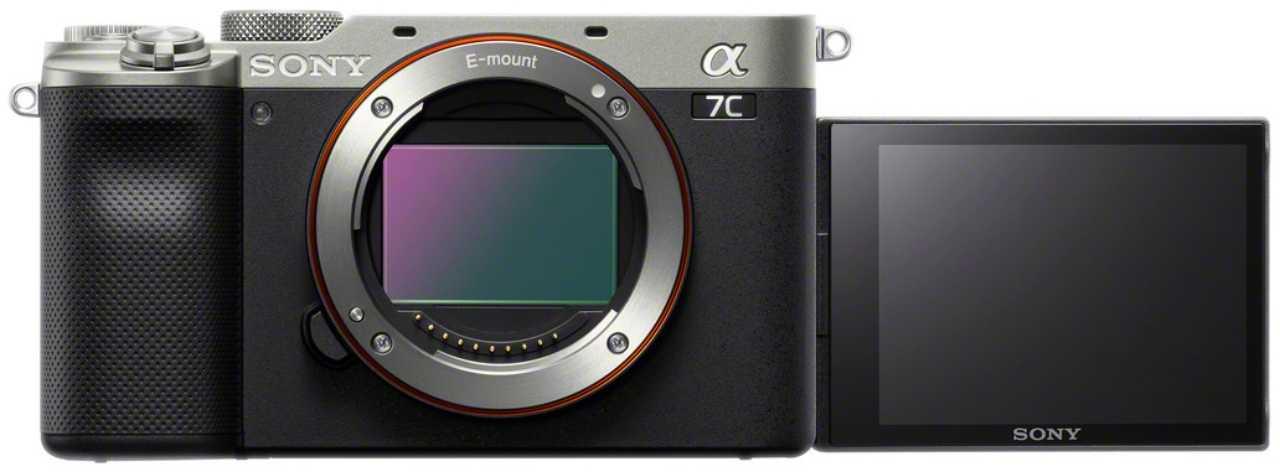 Sony Alpha 7C претендует на звание самой маленькой полнокадровой камеры в мире (alpha 7c lcd side front silver mid)