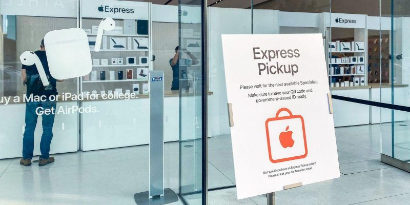 Apple тестирует экспресс-магазины для удобной выдачи онлайн-заказов (apple express burlingame hero)