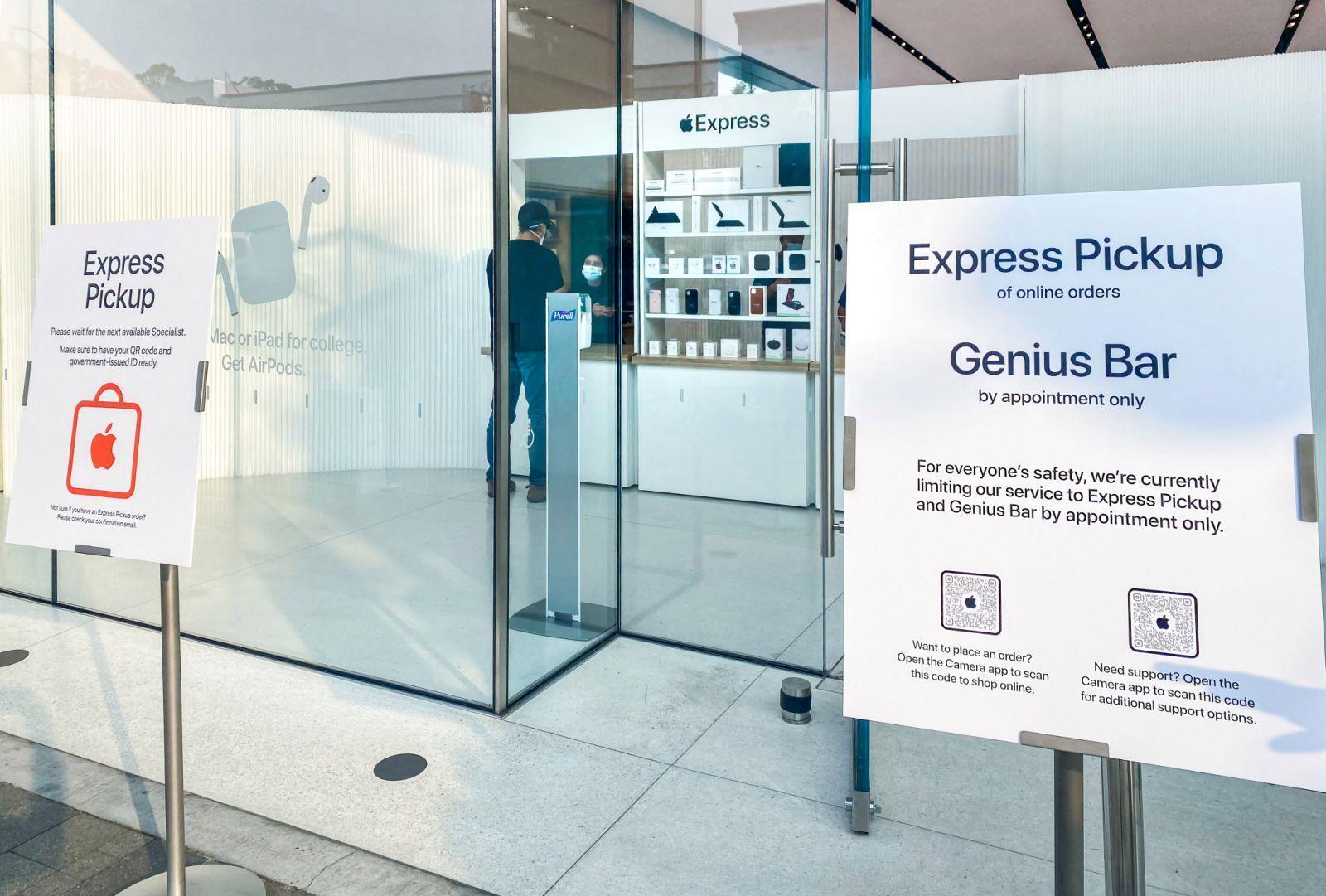Apple тестирует экспресс-магазины для удобной выдачи онлайн-заказов ()