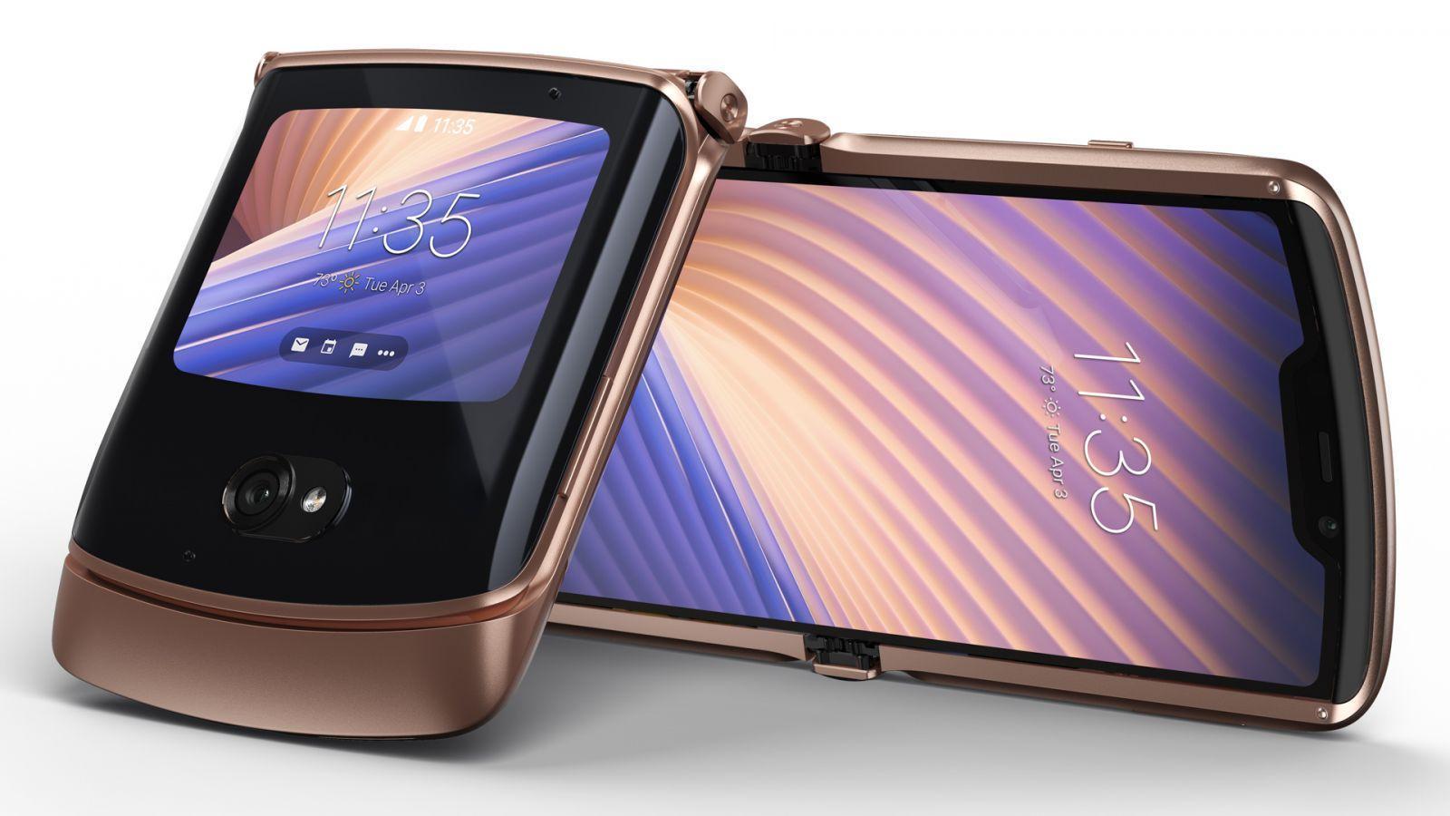 Motorola представила смартфон-раскладушку Motorola Razr 5G (blush gold combo)