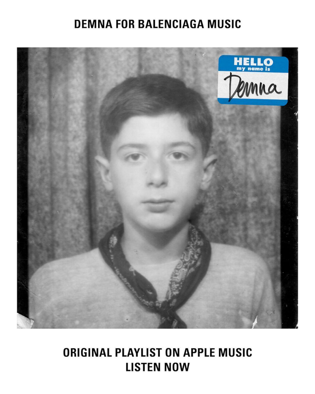 Balenciaga – новый куратор Apple Music (demna playlist cover)