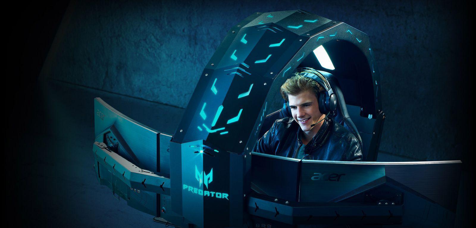 Acer представила новую версию игровой капсулы Predator Thronos Air (design large)