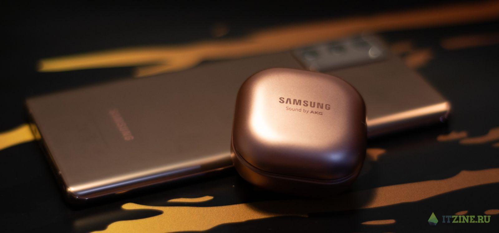 Samsung Galaxy Note20 и Galaxy Buds Live в бронзовой расцветке