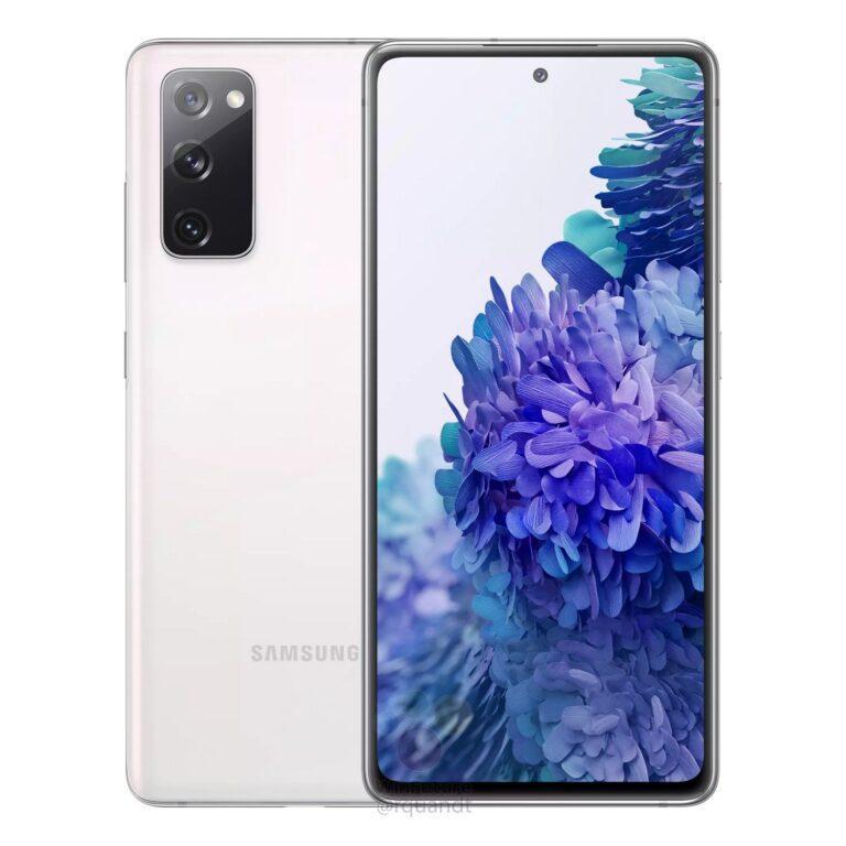 Samsung Galaxy S20 FE: характеристики и рендеры (galaxy s20 fe white render leak 768x768 1)