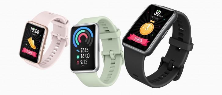 Компания Huawei представила фитнес-часы Huawei Watch Fit (gsmarena 002)