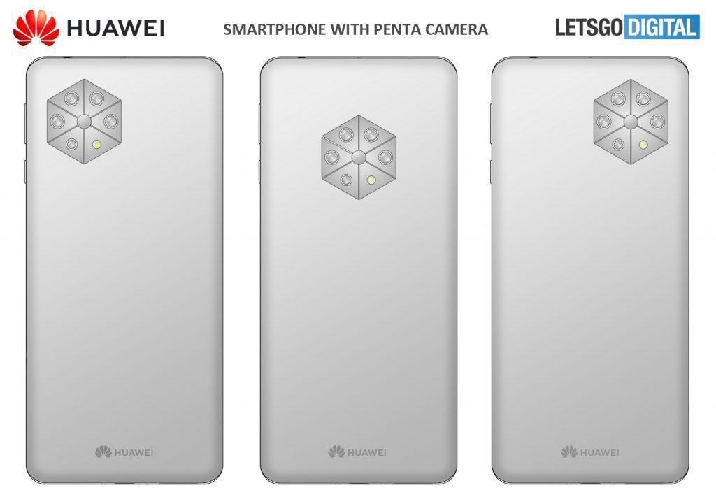 Huawei запатентовала смартфон с 5 задними камерами (huawei camera telefoon 1024x711 1)
