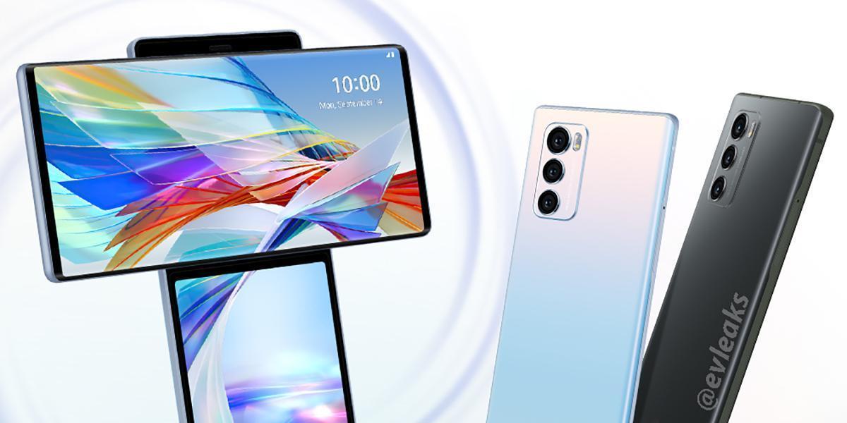 Появились первые рендеры смартфона LG Wing с вращающимся дисплеем (lg wing official render)