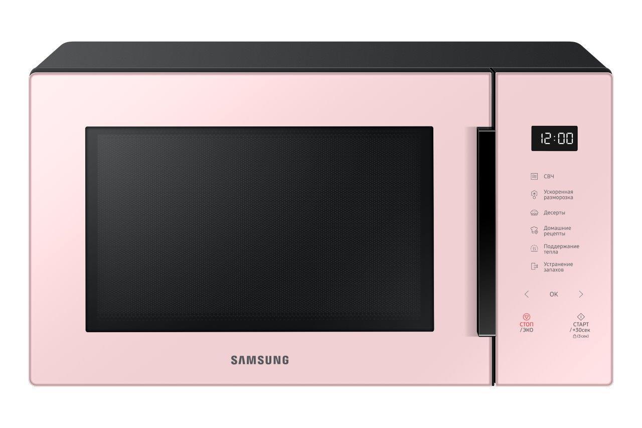 Обзор микроволновой печи Samsung MW5000T: красивая необходимость (ms30t5018ap bw 001 front clean pink)