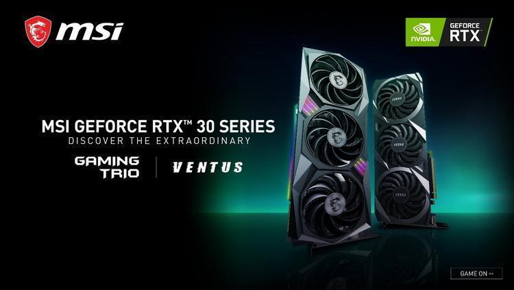 NVIDIA представила видеокарты GeForce RTX 3090, RTX 3080 и RTX 3070 (msi geforce rtx 30 series)
