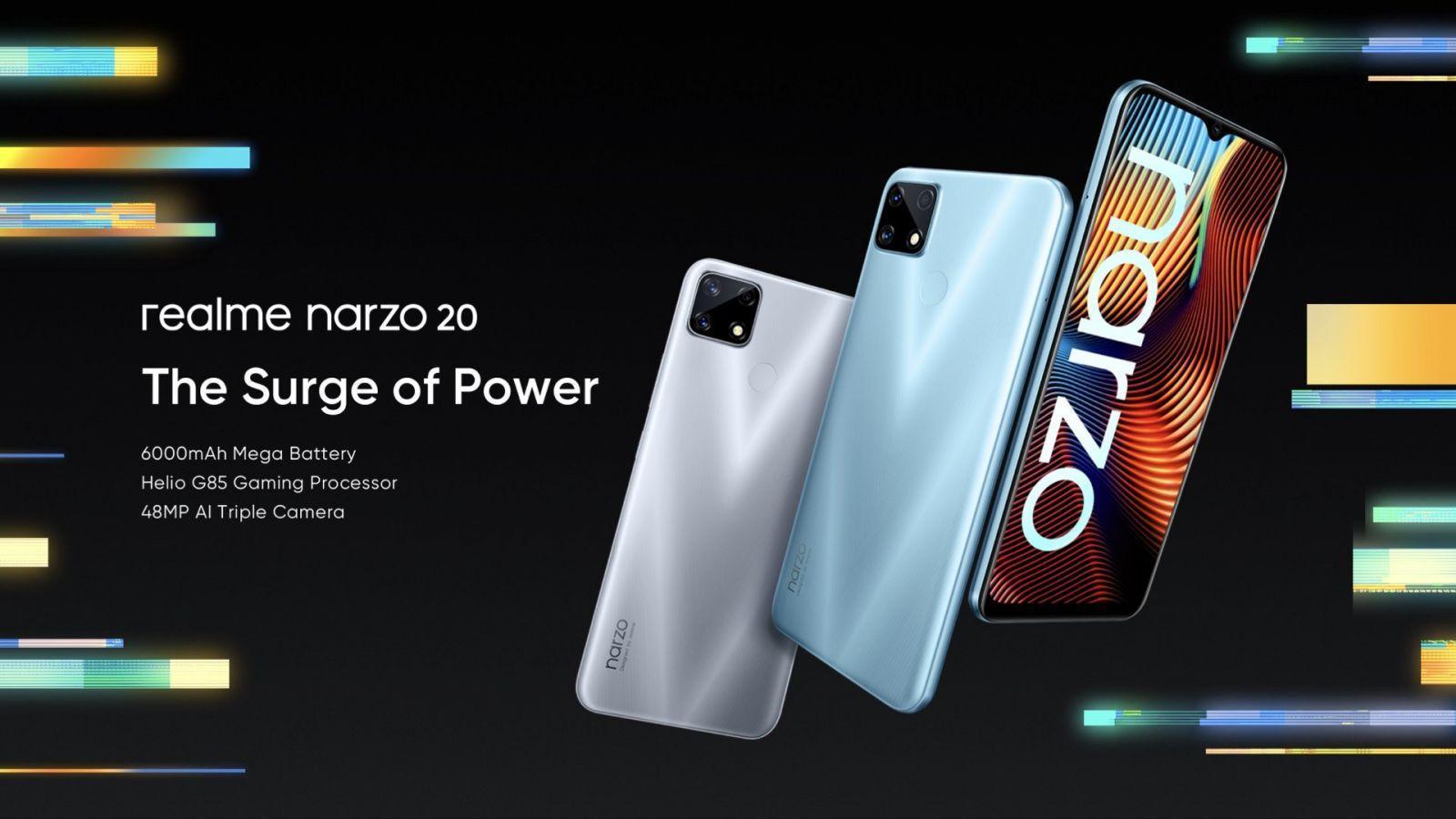 Realme представила линейку смартфонов Realme Narzo 20 (realme narzo 20 poster)
