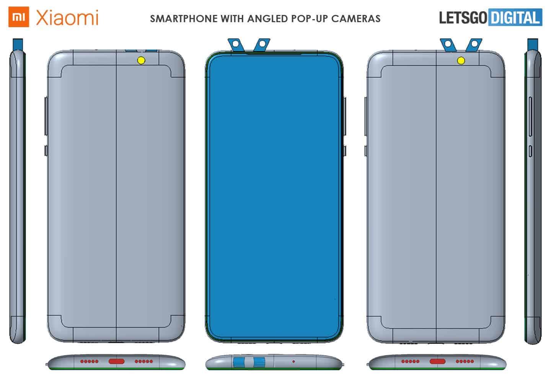 Xiaomi запатентовала смартфон с двумя выдвижными блоками камер (xiaomi patent 1)