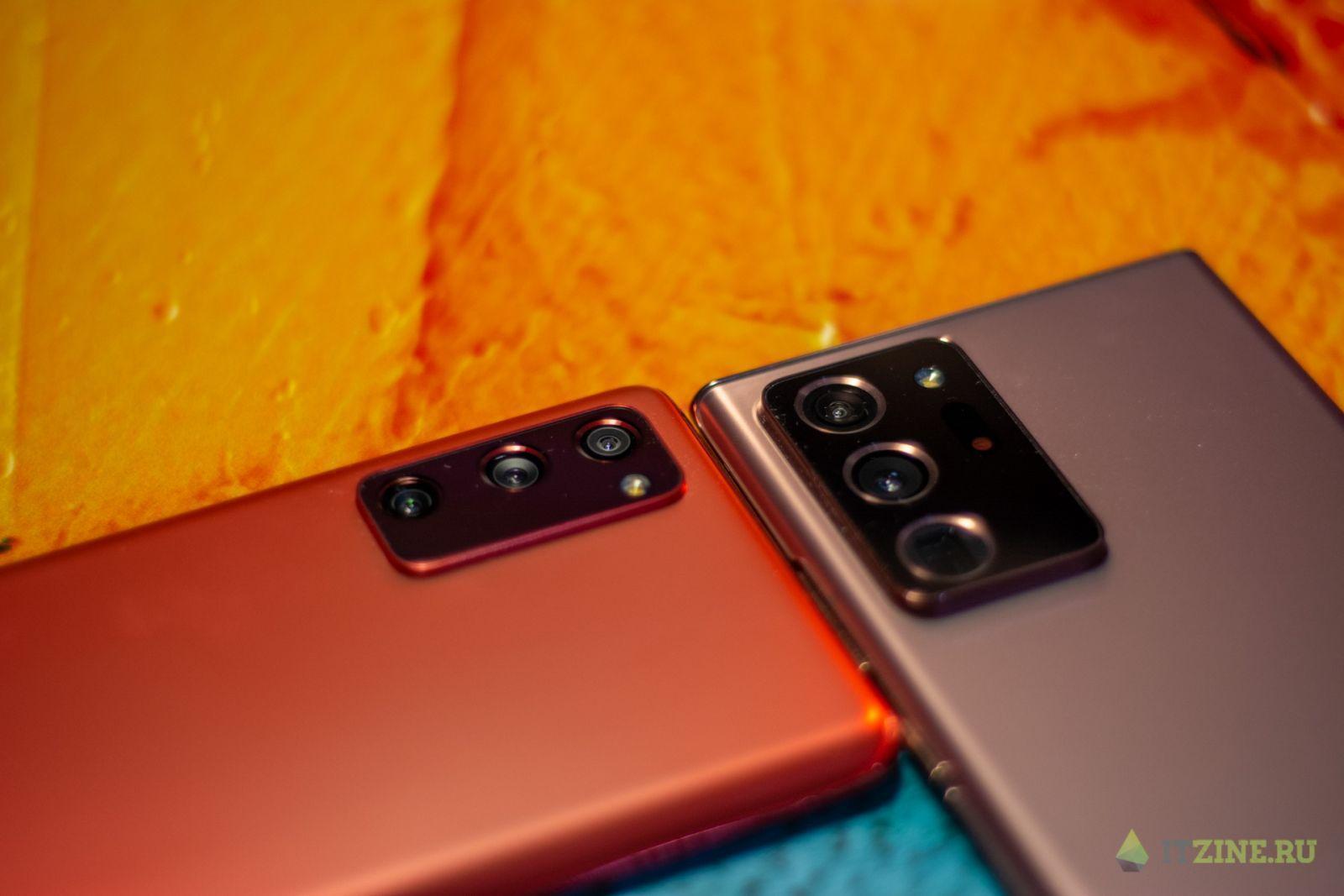 Камера Samsung Galaxy Note20 Ultra в сравнении с Samsung Galaxy S20 FE