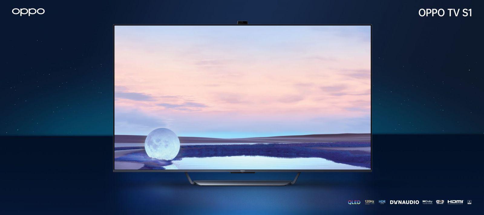 OPPO представила телевизоры, новые беспроводные наушники и другие умные устройства (OPPO TV S1 scaled)