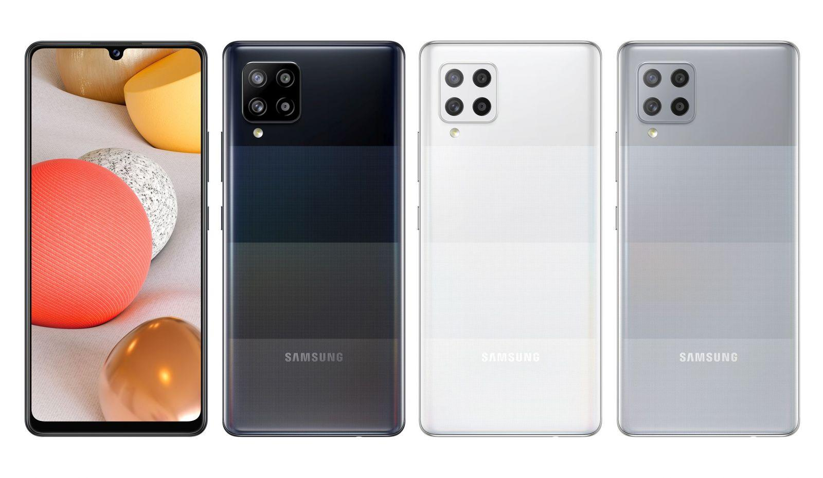 Вот как будет выглядеть самый дешёвый 5G-смартфон Samsung A42 (Samsung Galaxy A42 5G color variants)