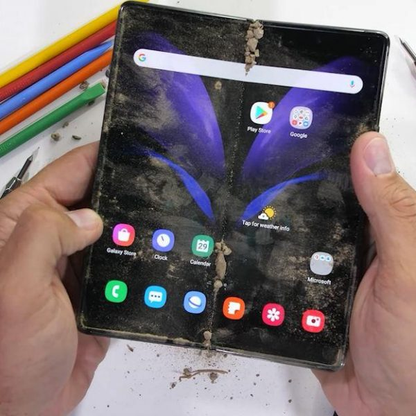 Складной смартфон Galaxy Z Fold 2 протестировали на прочность (Samsung Galaxy Z Fold 2 JerryRigEverythin header)
