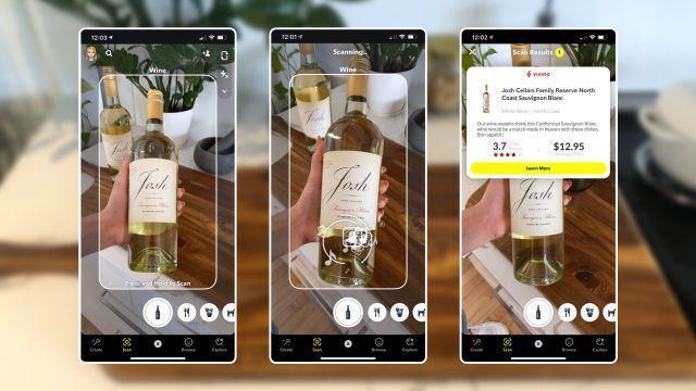 Приложение Snapchat научилось распознавать вино и еду (cc226cba0eb4a2a747b67cc26f829a656b7bc8fa)