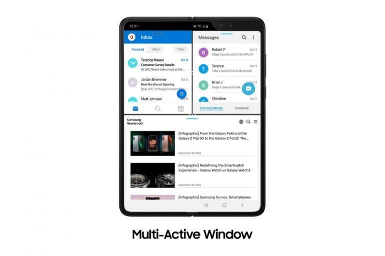 Galaxy Fold получил функции Galaxy Z Fold2 (fold software update main2FF 768x512 1)